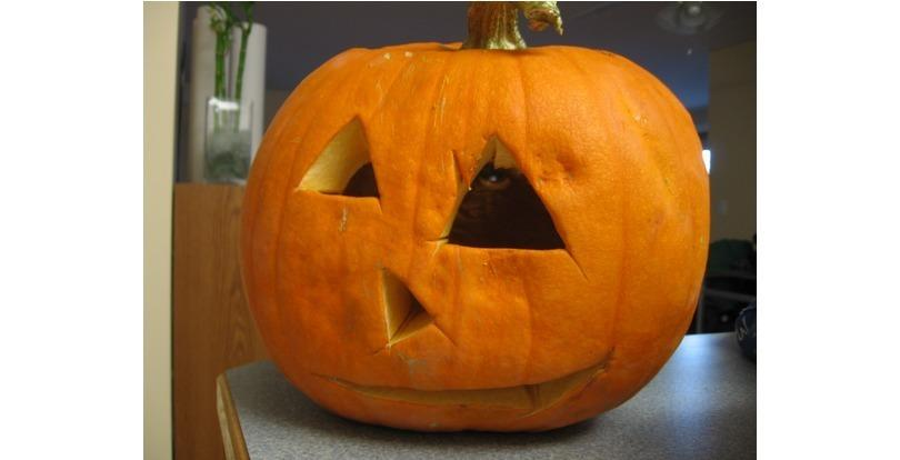 "Nothing says ""At least I tried"" like a badly carved jack-o-lantern"""